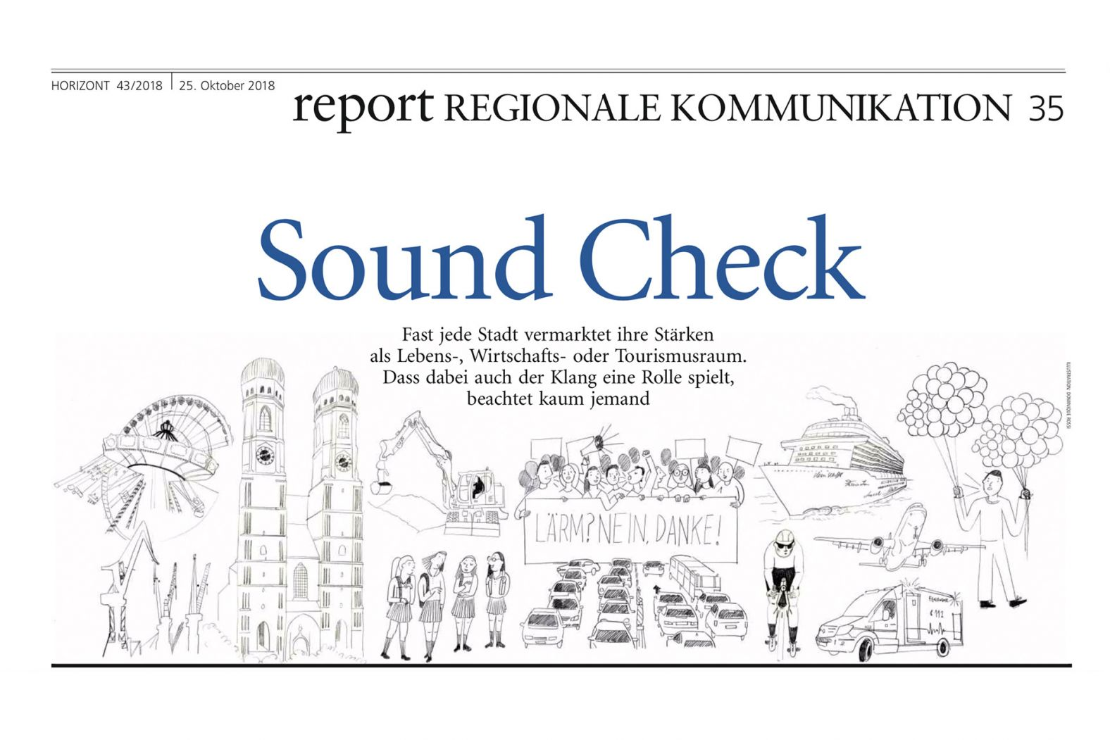 "Horizont Artikel ""Sound Check"" mit Cornelius Ringe"