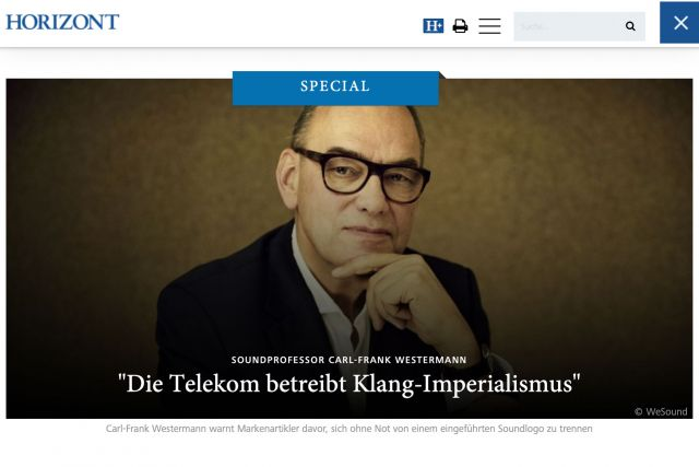 Carl-Frank Westermann in an Interview with HORIZONT