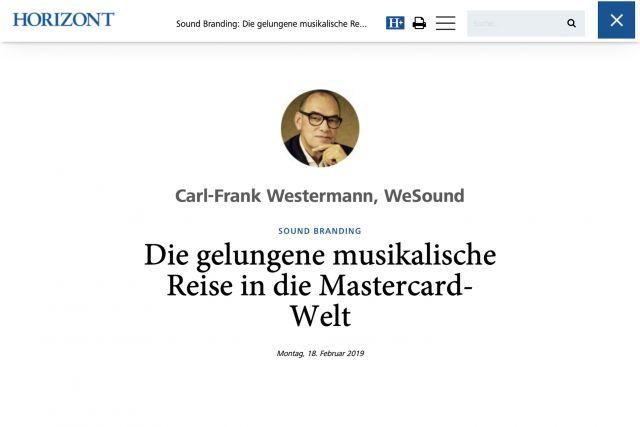 Horizont Artikel von Carl-Frank Westermann