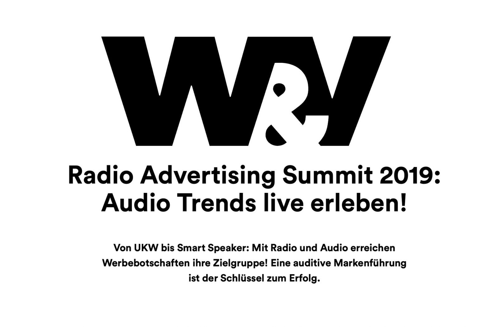 W&V Artikel radio Advertising Summit 2019