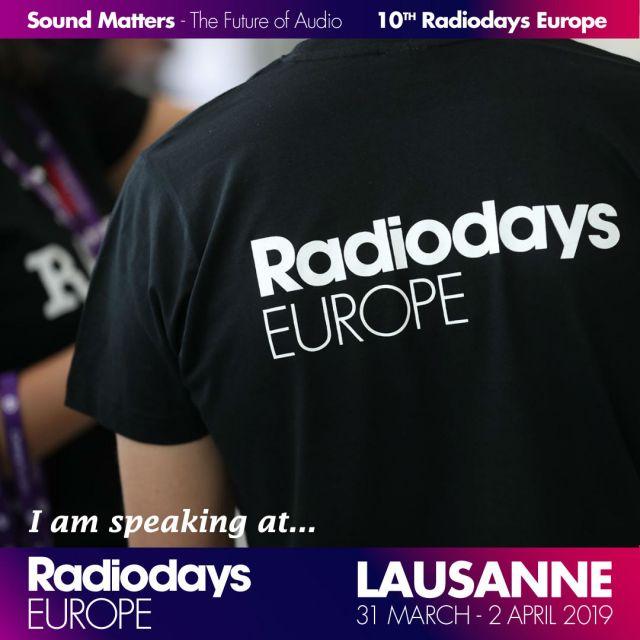 Werbebanner für die Radiodays Europe 2019