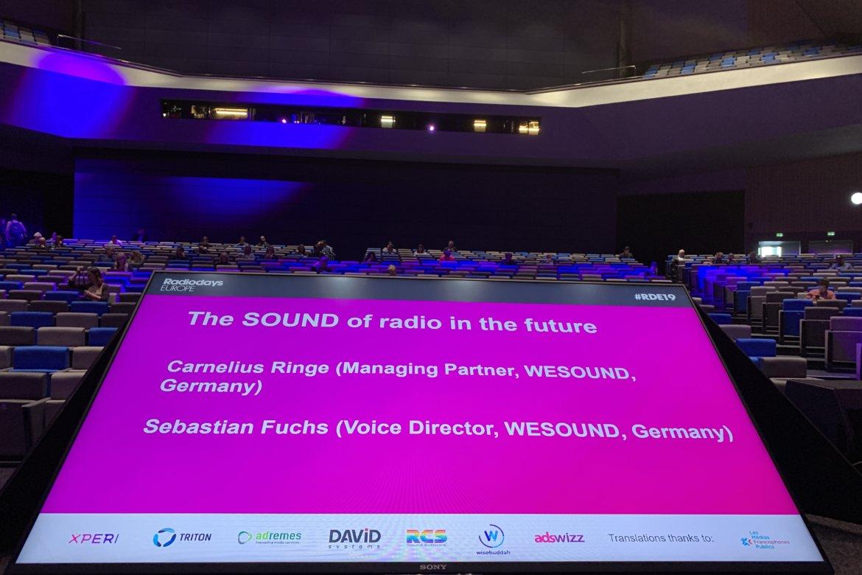 "Programmtafel mit ""The SOUND of radio in the future"""