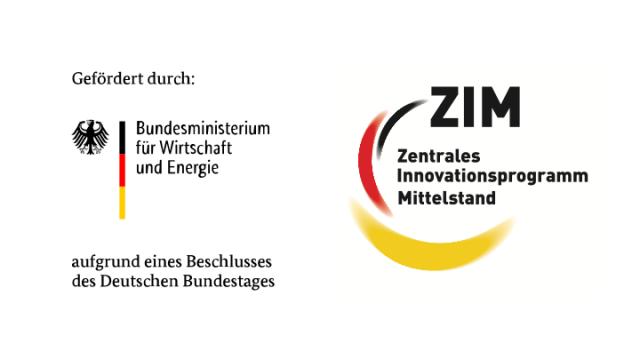 Logo BMWi & ZIM – Förderer des Projektes iMozart zur Musikkomposition